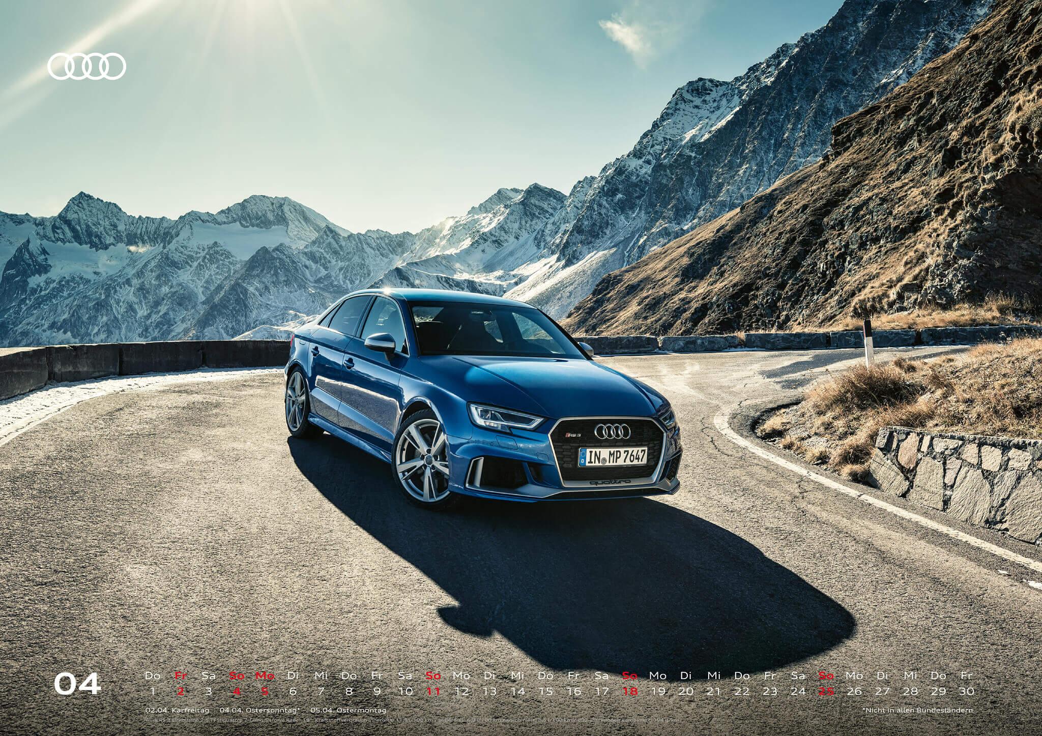 Audi Kalender 2021 - DIN A2 / Audi RS3 Limousine