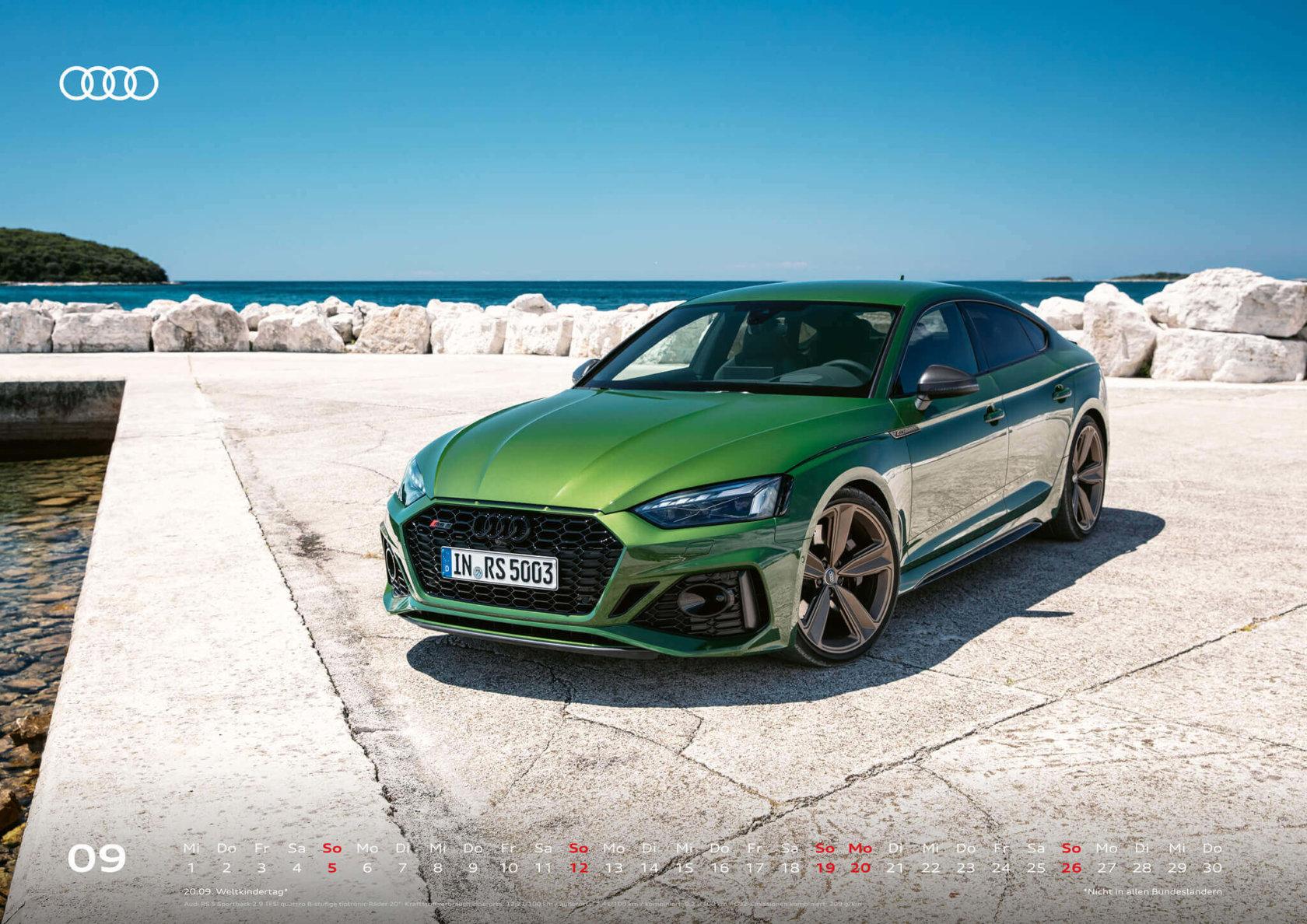 Audi Kalender 2021 - DIN A2 / Audi RS5 Sportback