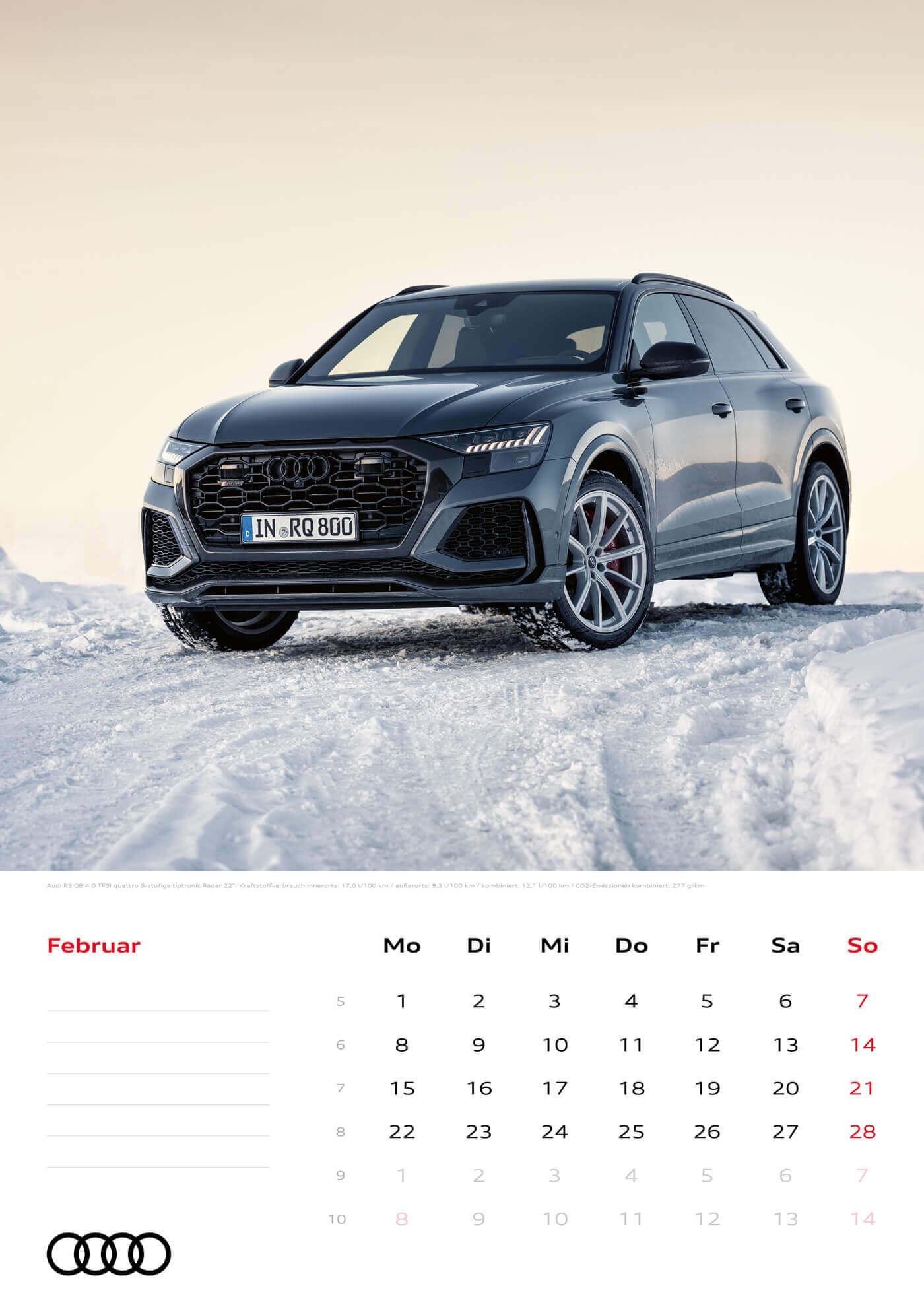 Audi Kalender 2021 - DIN A3 / Audi RSQ8
