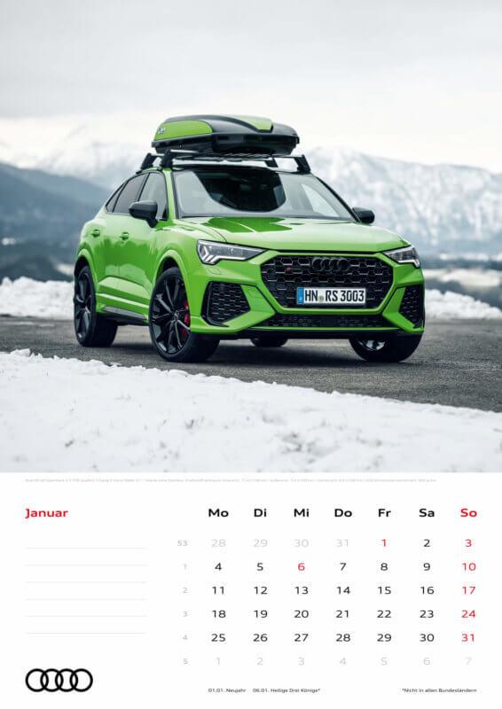 Audi Kalender 2021 - DIN A3 / Audi RSQ3 Sportback
