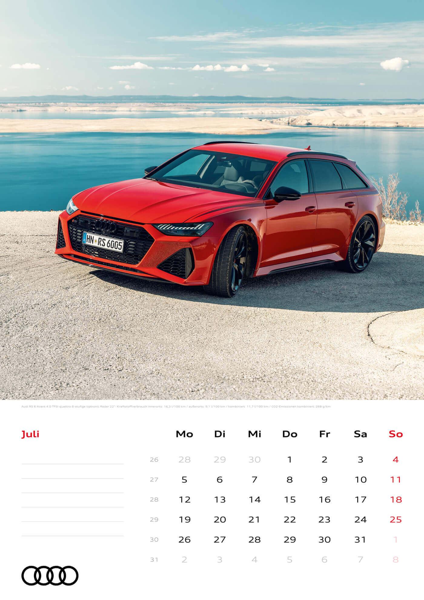 Audi Kalender 2021 - DIN A3 / Audi RS6 Avant
