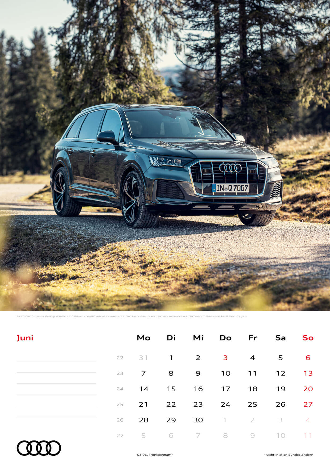 Audi Kalender 2021 - DIN A3 / Audi Q7