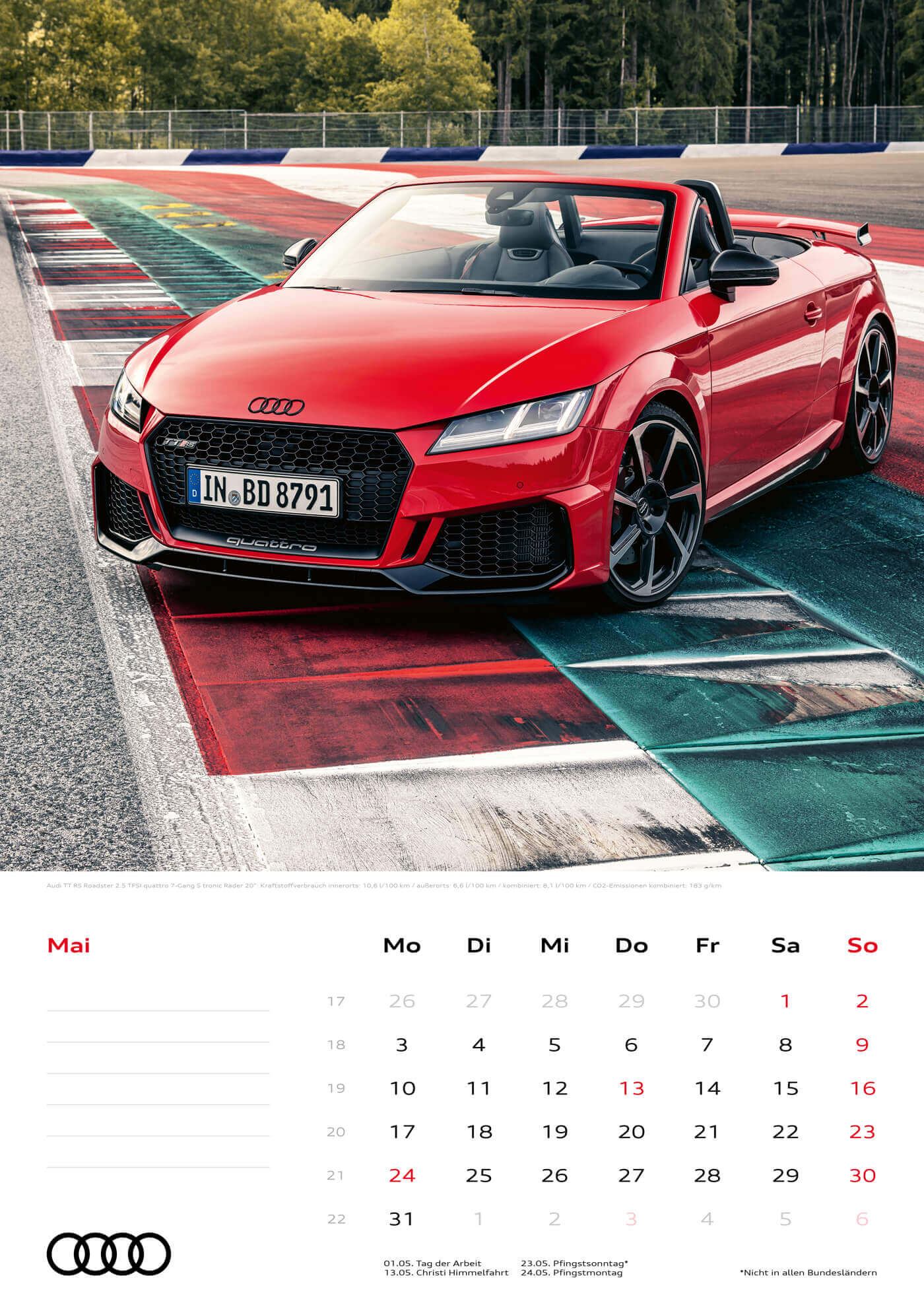 Audi Kalender 2021 - DIN A3 / Audi TTRS Roadster