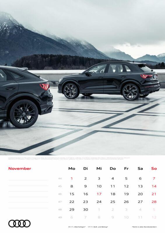 Audi Kalender 2021 - DIN A3 / Audi RSQ3 + Audi RSQ3 Sportback