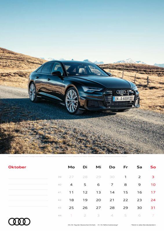 Audi Kalender 2021 - DIN A3 / Audi A6 Limousine