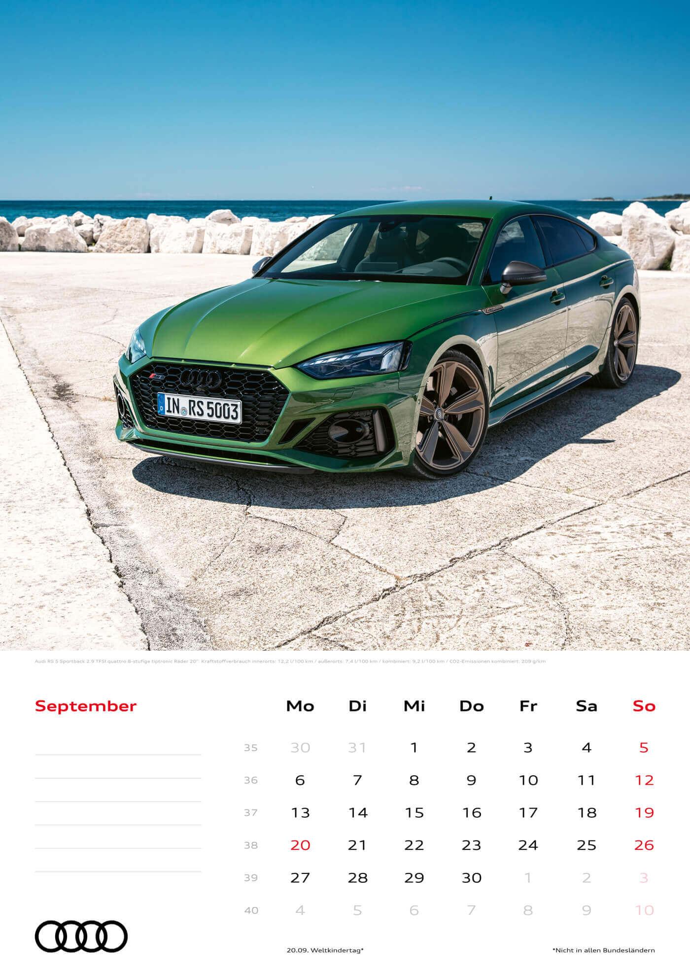 Audi Kalender 2021 - DIN A3 / Audi RS5 Sportback