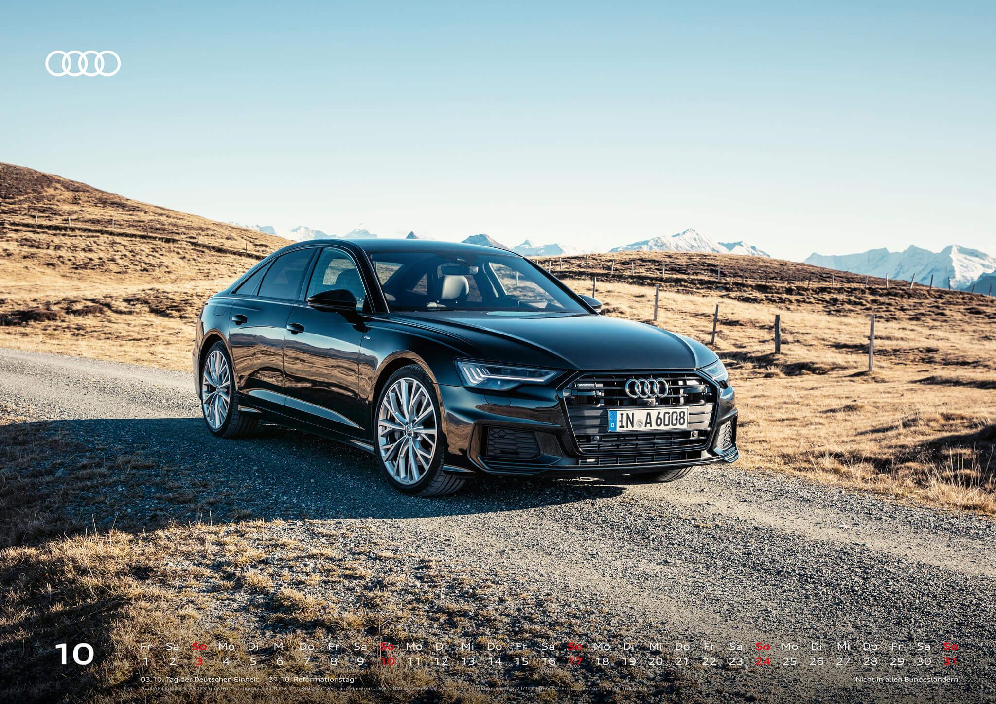Audi Kalender 2021 - DIN A2 / Audi A6 Limousine