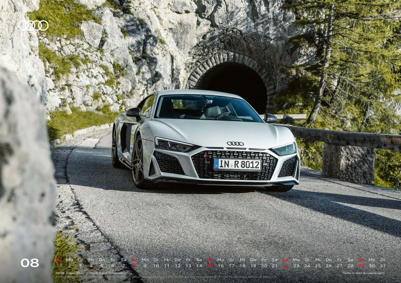 Audi Kalender 2021 - DIN A2 / Audi R8 Coupé Decennium