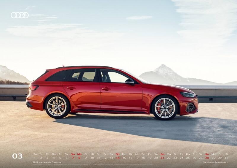 Audi Kalender 2021 - DIN A2 / Audi RS4 Avant