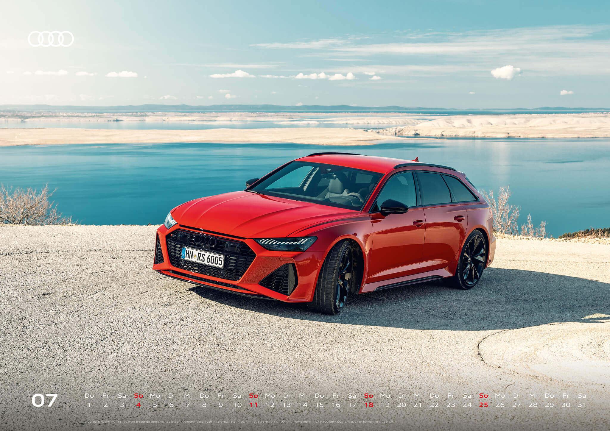 Audi Kalender 2021 - DIN A2 / Audi RS6 Avant