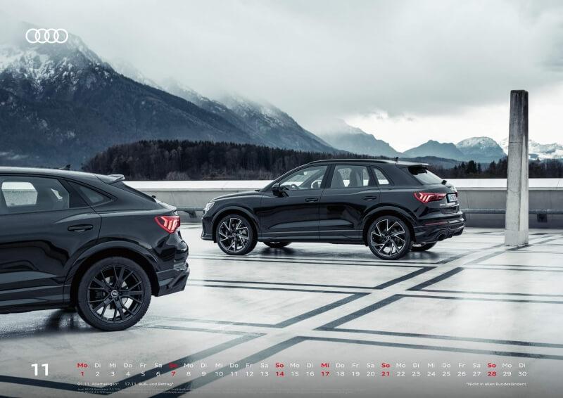 Audi Kalender 2021 - DIN A2 / Audi RSQ3 + Audi RSQ3 Sportback