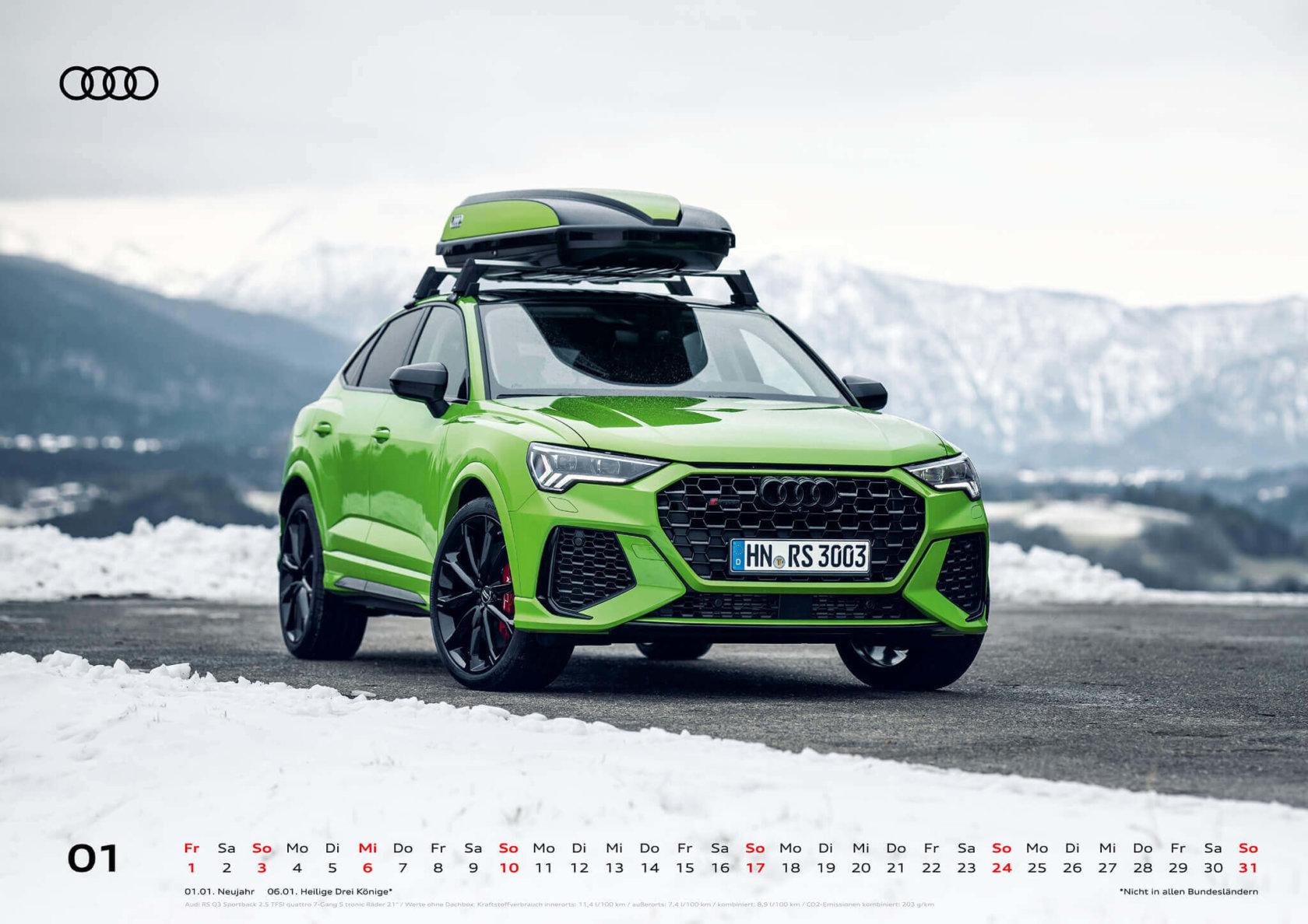 Audi Kalender 2021 - DIN A2 / Audi RSQ3 Sportback