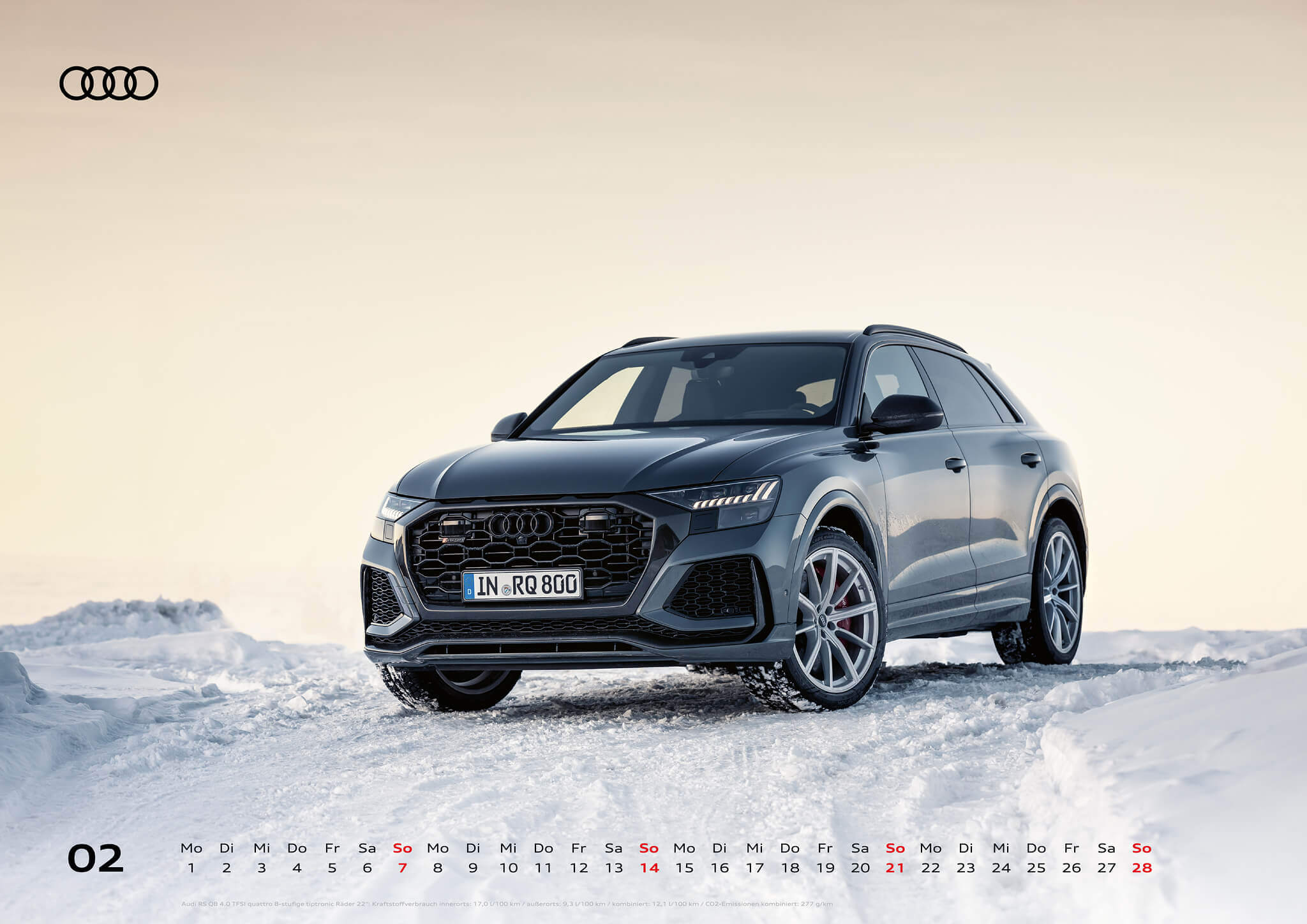 Audi Kalender 2021 - DIN A2 / Audi RSQ8