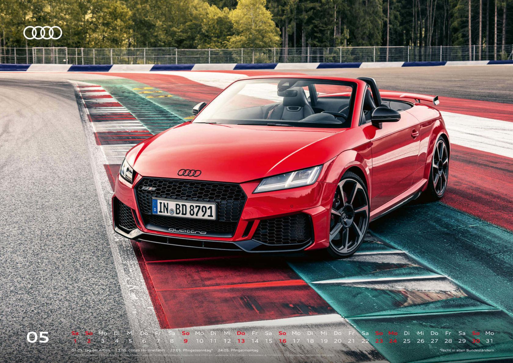 Audi Kalender 2021 - DIN A2 / Audi TTRS Roadster