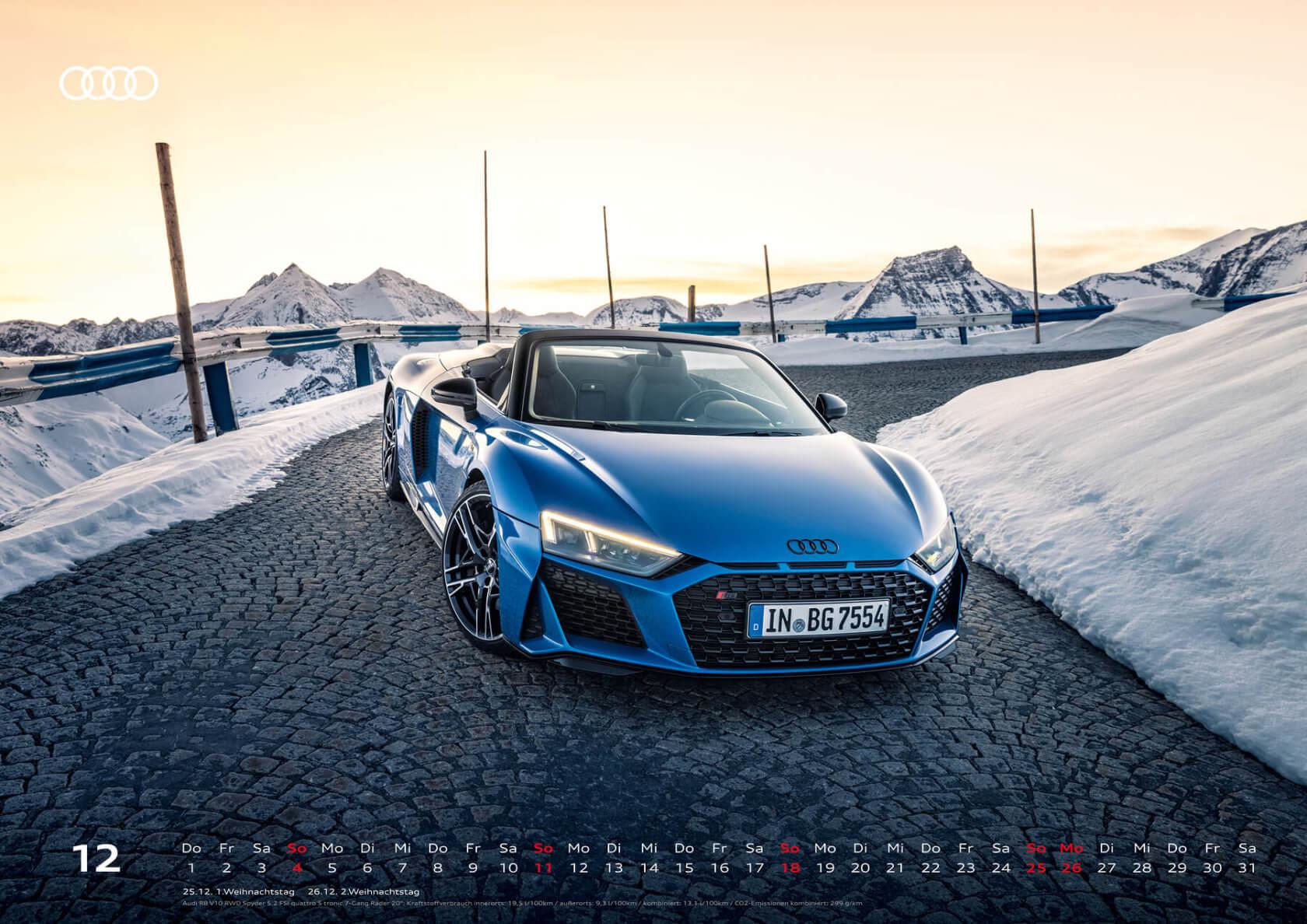 Audi Kalender 2022 XXL R8 Spyder