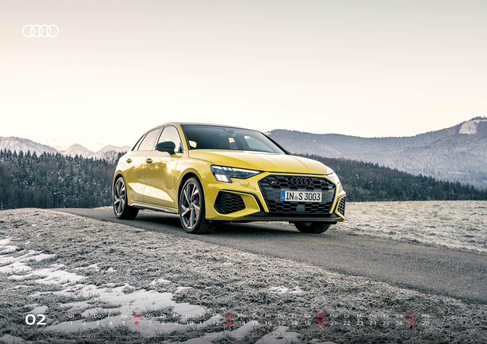 Audi Kalender 2022 A2 Februar