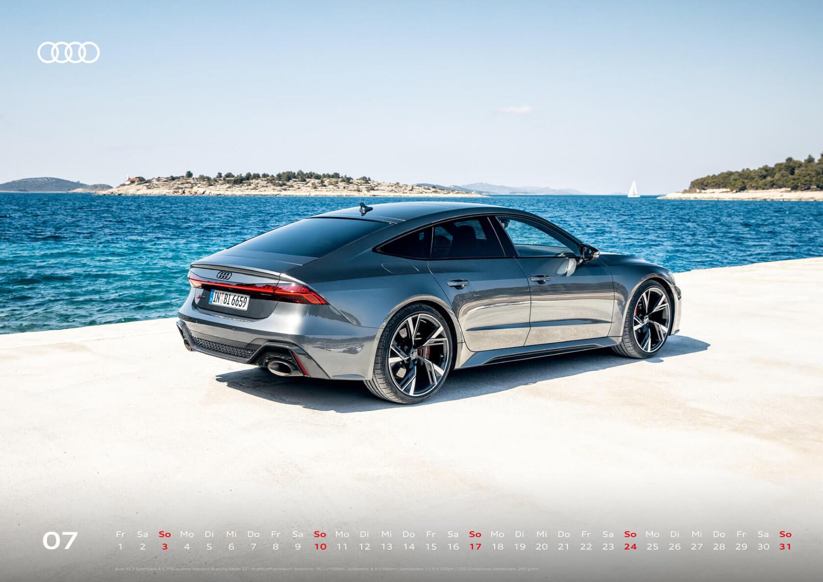 Audi Kalender 2022 A2 Juli