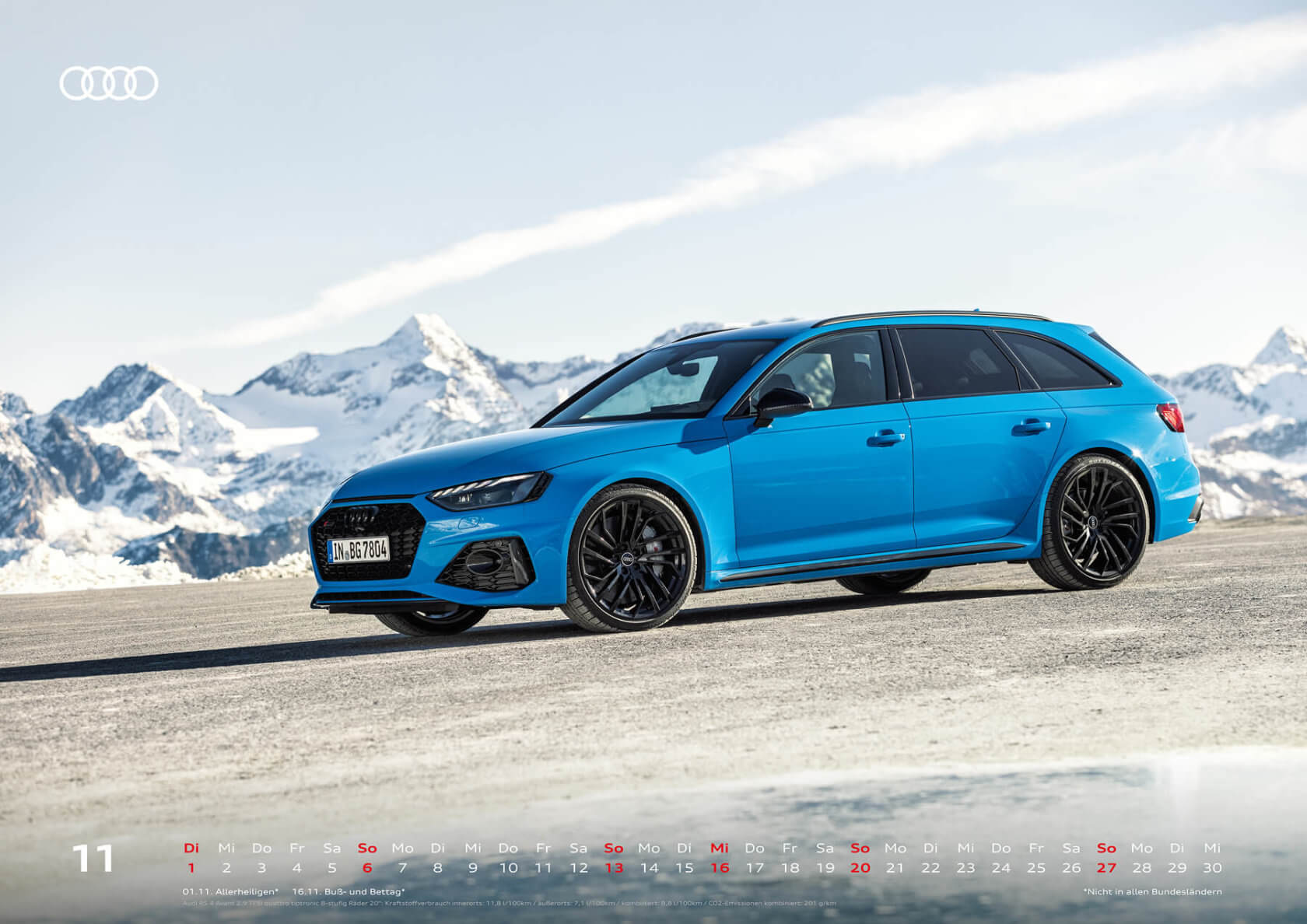 Audi Sport Kalender 2022 A2 November