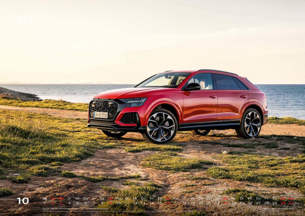 Audi Wandkalender 2022 A2 Oktober