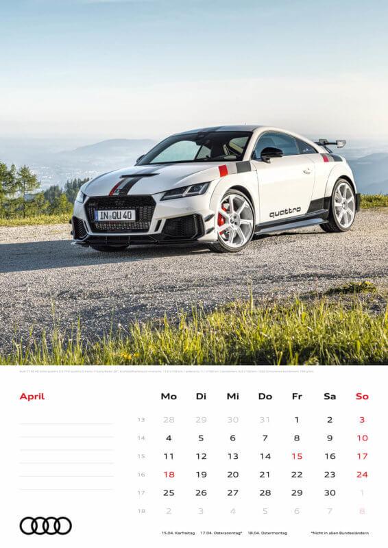 Audi Kalender 2022 A3 April