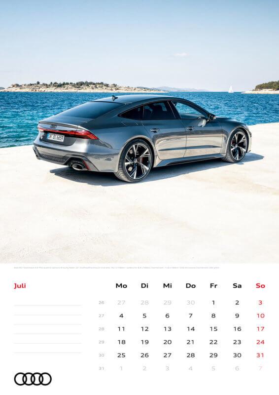 Audi Kalender 2022 A3 Juli