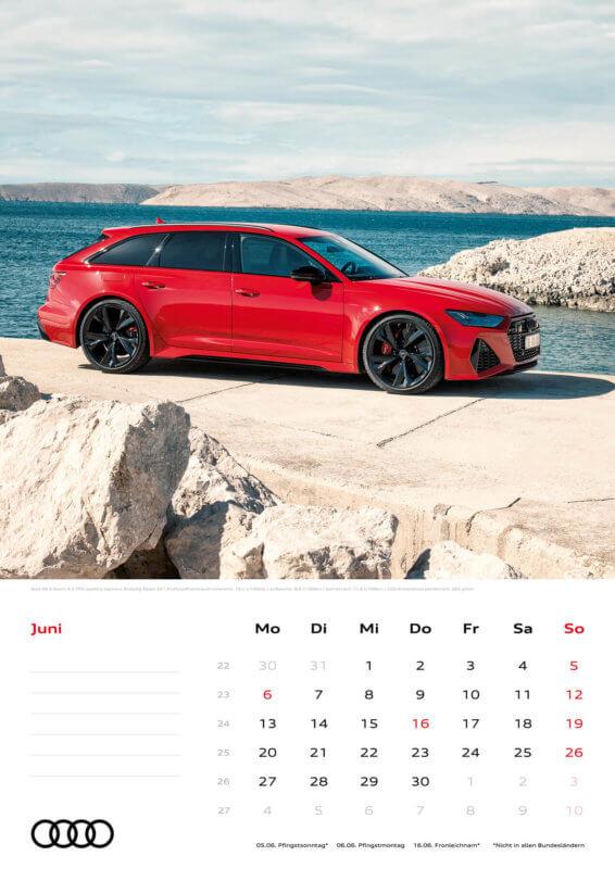 Audi Kalender 2022 A3 Juni