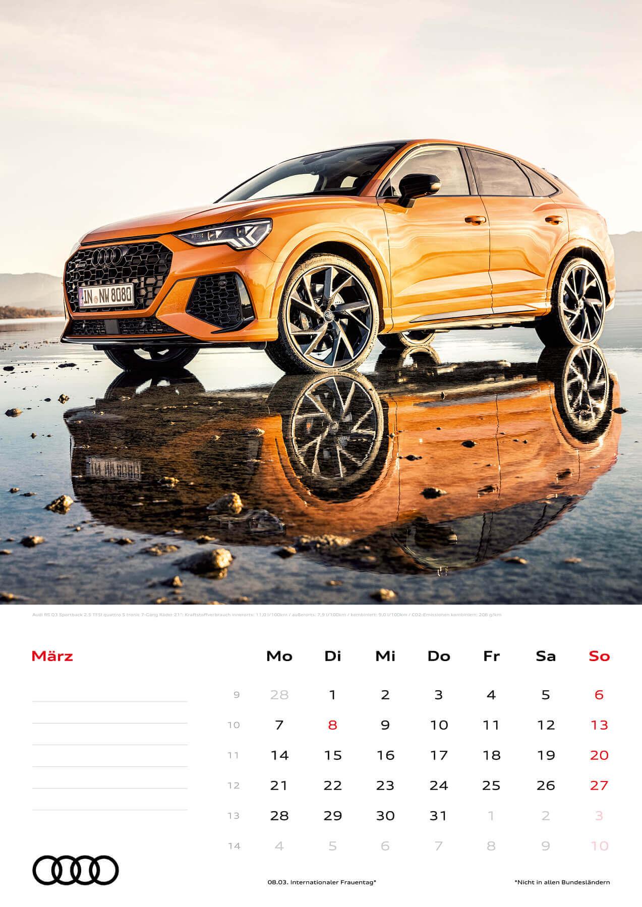 Audi Kalender 2022 A3 März