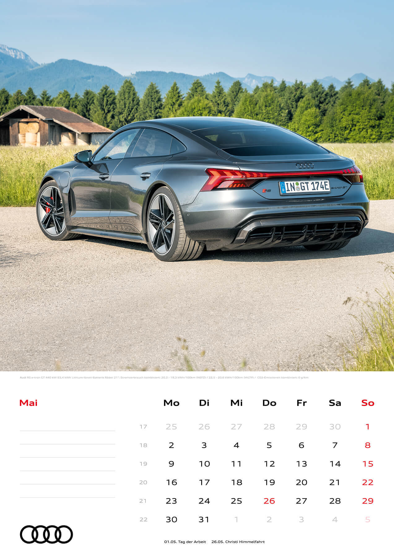 Audi Kalender 2022 A3 Mai