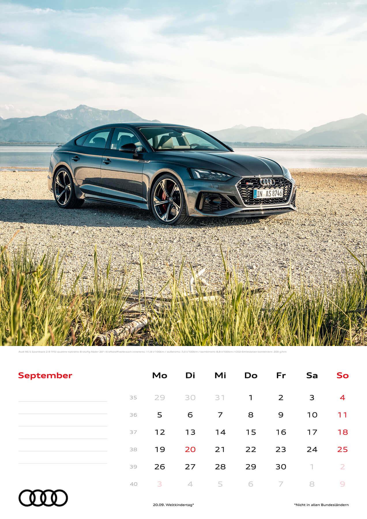Audi Kalender 2022 A3 September