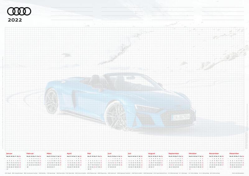 Audi Schreibtischunterlage 2022 DIN A2
