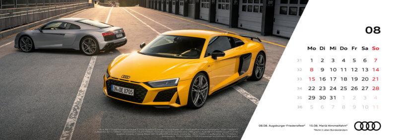Audi Tischkalender 2022 - August