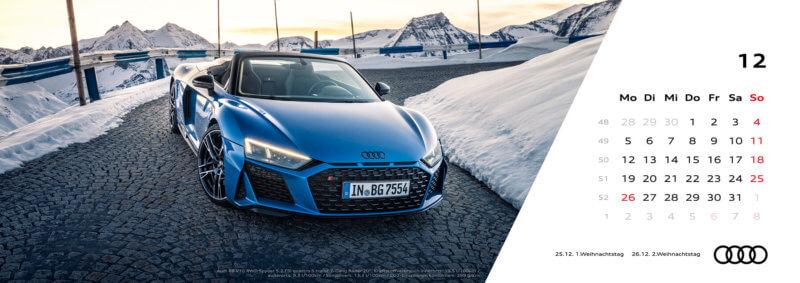 Audi Tischkalender 2022 - Dezember