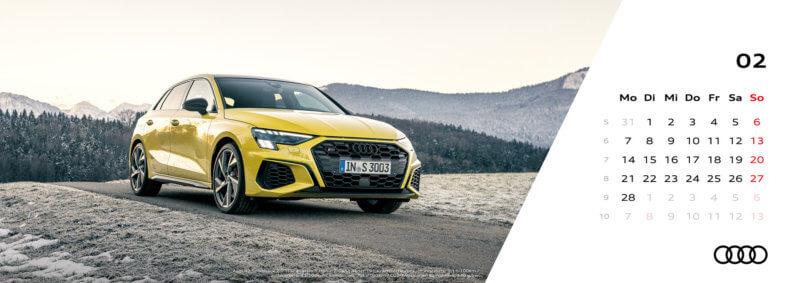 Audi Tischkalender 2022 Februar