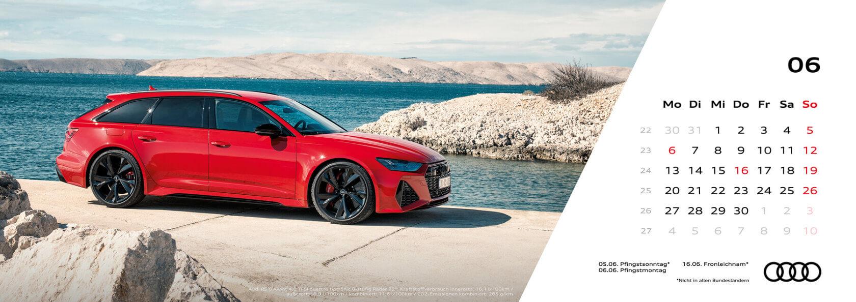 Audi Tischkalender 2022 - Juni