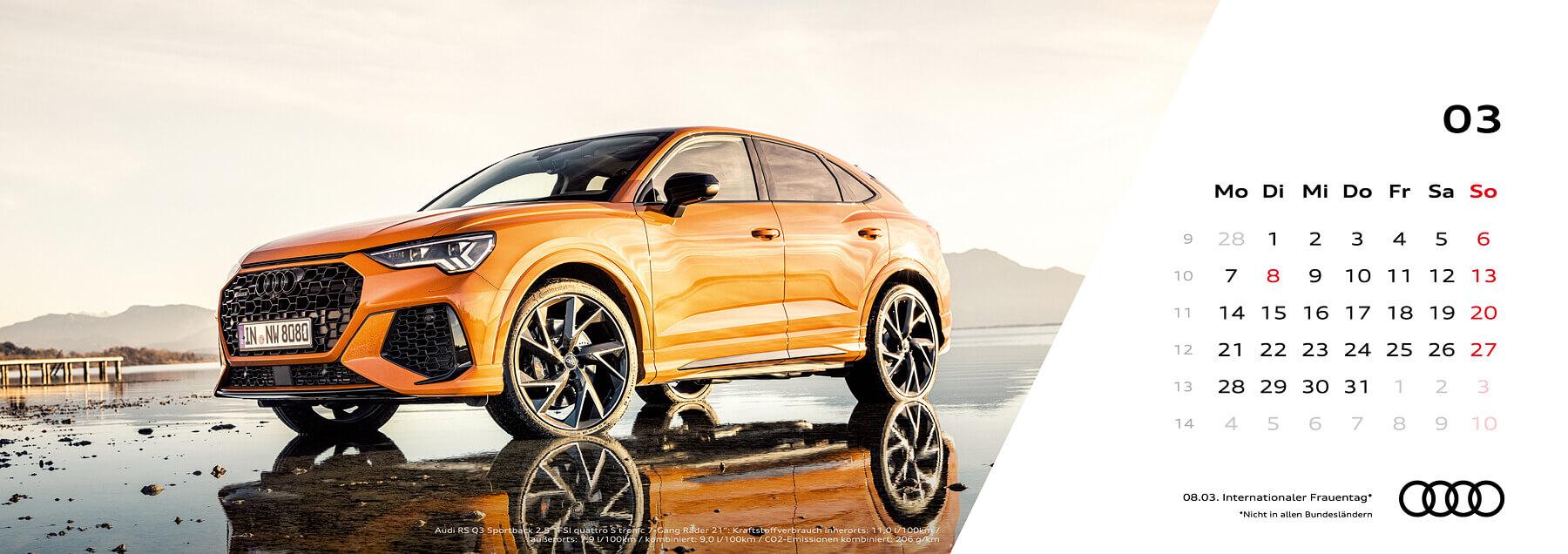 Audi Tischkalender 2022 - März