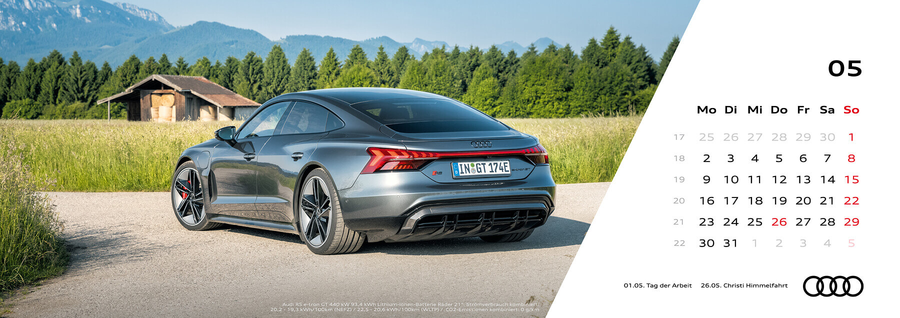 Audi Tischkalender 2022 - Mai