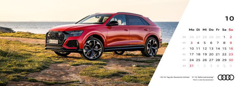 Audi Tischkalender 2022 - Oktober