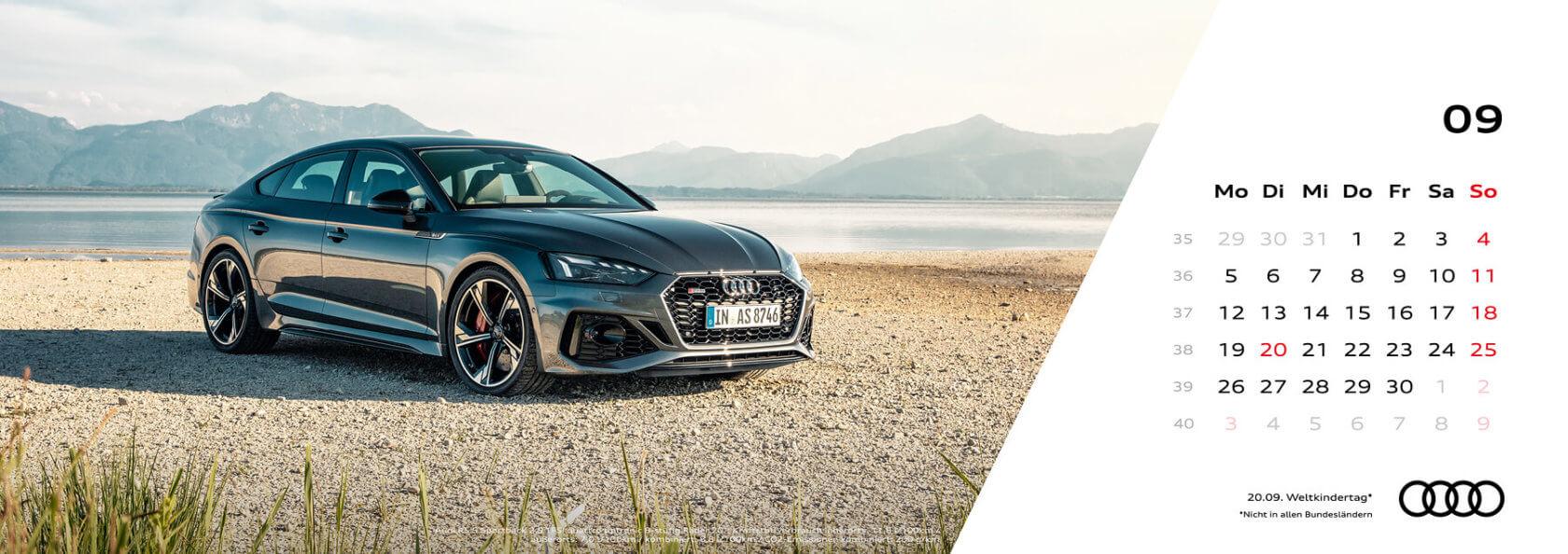 Audi Tischkalender 2022 - September