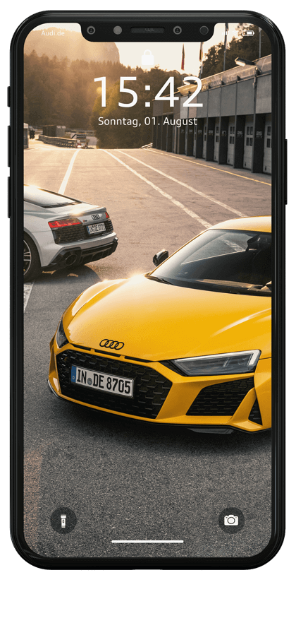 iPhone Mockup Audi R8