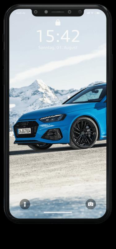 iPhone Wallpaper Audi RS4